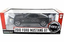Greenlight 2010 Ford Mustang GT Black 1/18 Diecast car