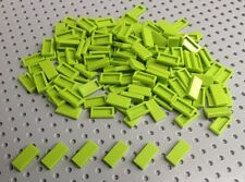 Lego Lime Green 1x2 Flat Tile (3069) x25 in a set *BRAND NEW* City Star Wars