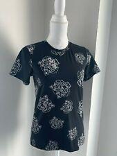 Kenzo Paris Vintage Black & White Tiger & Logo Print T-Shirt Top  SZ S