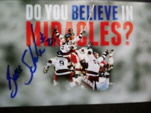 BUZZ SCHNEIDER Hand Signed Autograph 4X6 Photo  - 1980 OLYMPICS  MIRACLE ON ICE