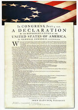 American Declaration of Independence A3 Size Poster