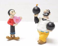 Popeye PVC Figure Lot BLUTO Olive Oyl Lot of 2 figures