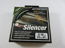 SAVAGE GEAR HD8 SILENCER FISHING BRAID 120M 0.19mm 27lb 12.2 kg GREEN