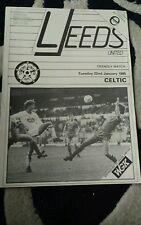 Leeds united v celtic programme from 1985.