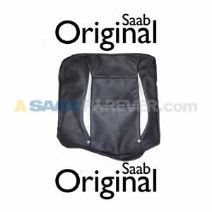 SAAB 9-5 AERO LEATHER SEAT COVER BACKREST RH REAR NEW GENUINE OEM K36 BLACK 4DR