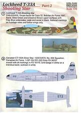 Print Scale Decals 1/72 LOCKHEED T-33A SHOOTING STAR Part 2