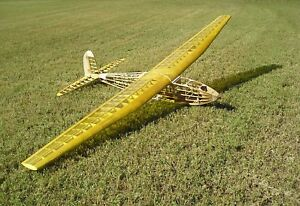 FOX BUZZARD 144 PLANS and PARTS PATTERNS to Build Duke Fox's 12-Foot RC Glider