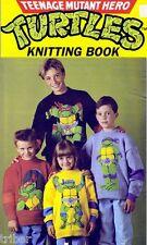 Knitting PATTERNS Adult Child Teenage Mutant Hero Turtles Sweaters Hat Scarf