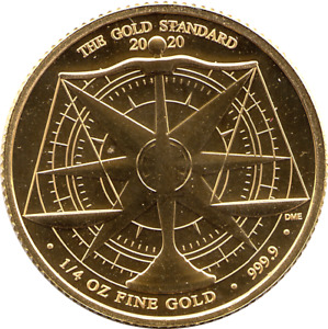 Royal Mint 1/4 oz 999.9 Gold 2020 Gold Standard Capsuled Fine Gold £25 Coin