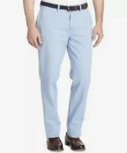 mPOLO RALPH LAUREN MEN,S BEDFORD CLASSIC FIT FLAT FRONT CHINO IN SKY BLUE
