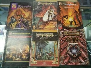 Advanced Dungeons & Dragons  LOT of  9 BOOKS!!!!