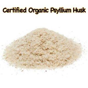 Certified Organic PSYLLIUM HUSK ORAL POWDER 100% PURE DIETARY FIBRE DIGESTIVE