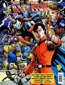 Back Issue #120 magazine Legion Of Super-Heroes Starslayer Manhunter Space 1999