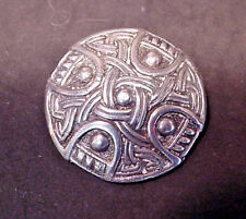 Co Vintage C Clasp 15.9 grams Sterling Silver Celtic Pin Brooch Shipton &