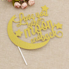 Romantic DIY Wedding Party Supply Love You To The Moon And Back Cake Topper Gift
