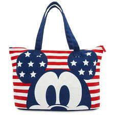 DISNEY STORE Tote Bag MICKEY MOUSE AMERICANA Foldable NWT