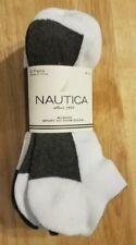 NAUTICA 6 PAIRS WOMENS SPORT NO SHOW SOCKS - SIZE 9-11 - NWT