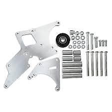 GM Truck LS Alternator & Power Steering Relocation Bracket Billet Mach # 81203