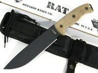 Ontario 8604 Fixed Blade Rat-7 Straight Edge Knife + Sheath