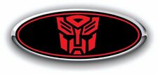 Ford Fusion 2006-2012 Autobot Custom Overlay Emblem Decal 3PC Kit BLK/RED