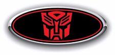 Ford 2016 Edge Autobot Custom Overlay Emblem Decal 3PC Kit BLK/RED