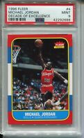 Michael Jordan Rookie Card 1986 Fleer Basketball RC Replicate PSA 9 '96 Decade