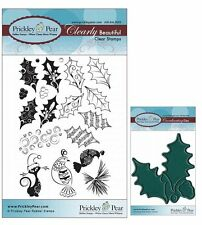 Prickley Pear Holly and Berries Clear Stamp and Die Set - CLR020 & PPRS-D020