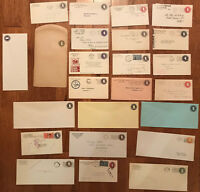 24 piece circular die stationery group mint and used [y2853]