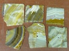 ONYX RUSTIC CLOCK FACES > MEXICAN ONYX > PRE-DRILLED> LOT OF SIX(6) CLOCK FACES