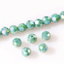 DIY 100Pc4mm Round Crystal Glass Beads green AB Spacer Bead For Bracelet Jewelry