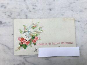 VECCHIA CARTOLINA CARTONCINO FIORI OLD POSTCARD