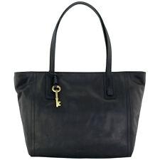 Fossil Emma Tote Large Black Leather Women's Handbag ZB6844001