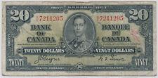 BANK OF CANADA 20 DOLLARS 1937 BC25C KE7211205 - CIRC