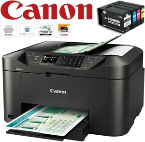 Canon MAXIFY MB2150 All-in-One WiFi Inkjet Photo Printer Fax ADF PGI-1500XL Inks