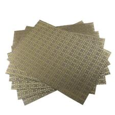 Set of 6,Placemats Washable Crossweave Woven Vinyl Dining Table Mats Non Slip