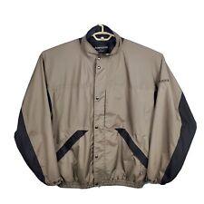 Dryjoys by Footjoy Tour Full Zip/Snap Jacket Long Sleeve Brown Men's Size L