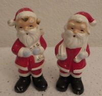 Vintage Collectible Santa's Salt & Pepper Shakers - Made in Japan