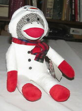 """People Pals 12"""" Sock Monkey Floral Holiday - with tags"""
