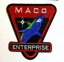 "Star Trek Enterprise Maco Shark Marines 4"" Patch- Green/Blue Shark(Maco-Shark-G)"