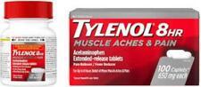 TYLENOL 8HR MUSCLE ACHES & PAIN Acetaminophen 650mg 100 Caplets  EXP. 9/2022