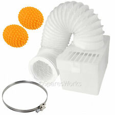 1M Wall Mountable Condenser Box Hose Clip & Balls for CANDY Tumble Dryer