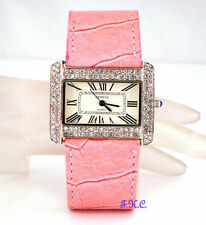 Geneva Faux Leather Band Women's Wristwatches