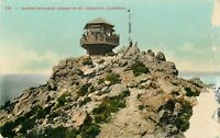DB Postcard CA J272 Marines Exchange Summit of Mt Tamalpais People Flag Damage