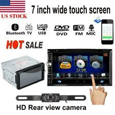 "7"" Double 2 DIN Ultra-HD Car Stereo DVD Player Bluetooth Radio TV Aux In+ Camera"
