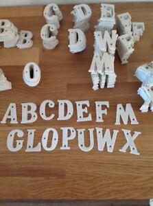 Letters Plastic White NOS 1960s 50mm High Retro