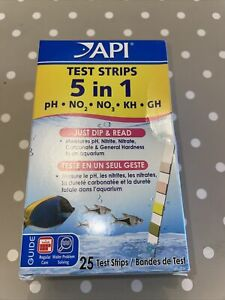 API 5 in 1 Test Strips Kit Marine & Freshwater aquarium PH Nitrate Nitrite