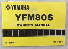 1985 Vintage Yamaha Motorcycle Owner's Service Manual YFM80S