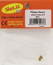 SLOT IT SIPI11 11-TOOTH BRASS INLINE PINION GEAR 5.5mm NEW 1/32 SLOT CAR PART