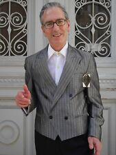 G.O.L. Herren SAKKO grau-silber Streifen Jacke 90er TRUE VINTAGE mens jacket 90s