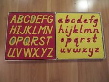 Lauri Letters, Set of 2 Capital and Lowercase in D'Nealian Font, Rare Alphabet